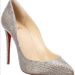 Christian Louboutin Silver Pigalle 100mm Pumps
